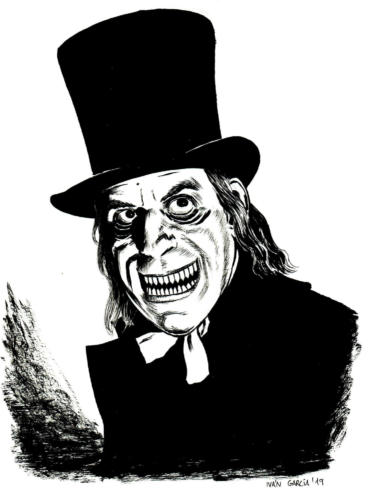 Dibujo London After Midnight Lon Chaney Ivan Garcia Commissions